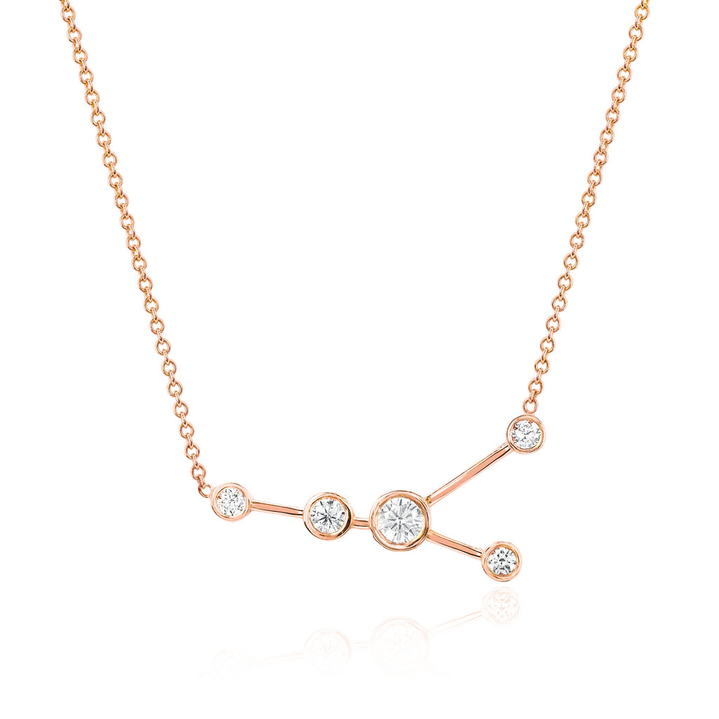 Cancer Constellation Necklace Rose Gold