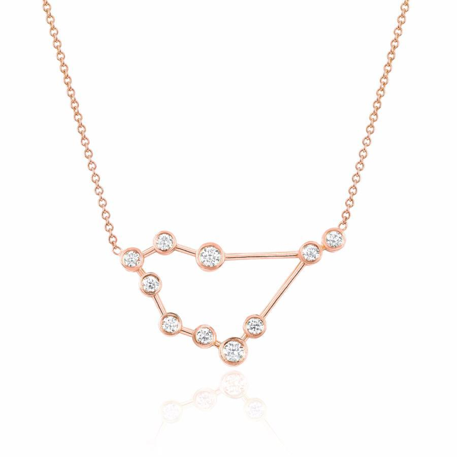 Capricorn Constellation Necklace Rose Gold