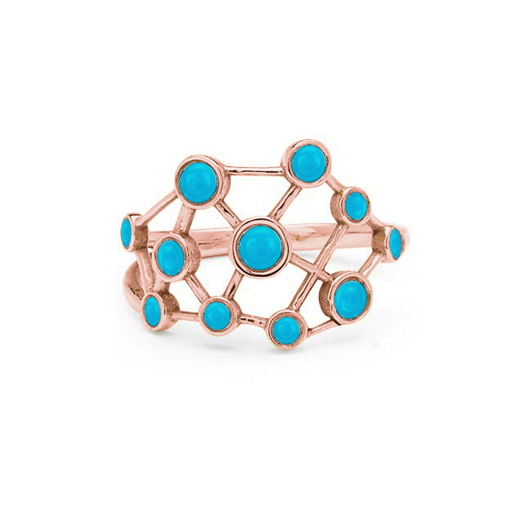 Turquoise Constellation Ring Rose Gold