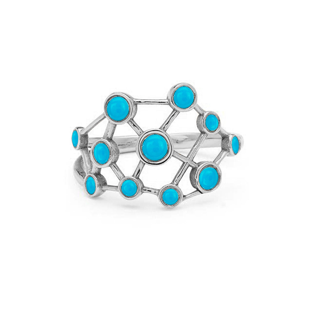 Turquoise Constellation Ring White Gold