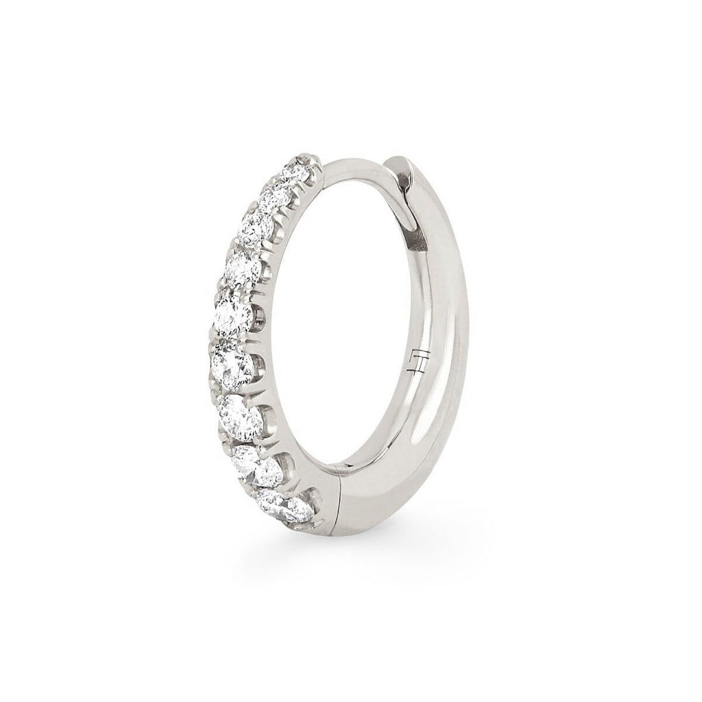 NEW! Crescent U Pavé Unity Hoops NEW! Crescent U Pavé Unity Hoops