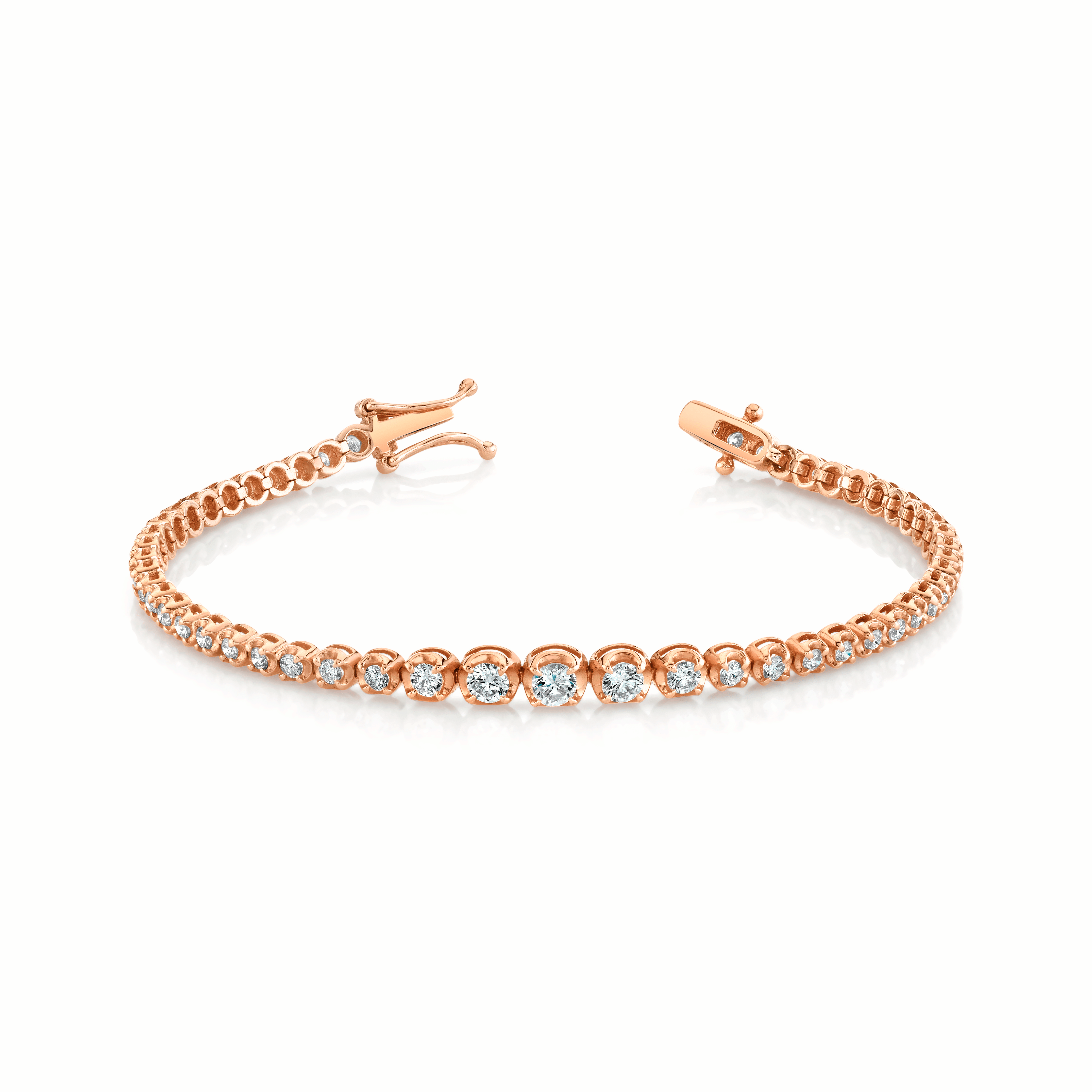 NEW! Graduated Diamond Goddess Bracelet