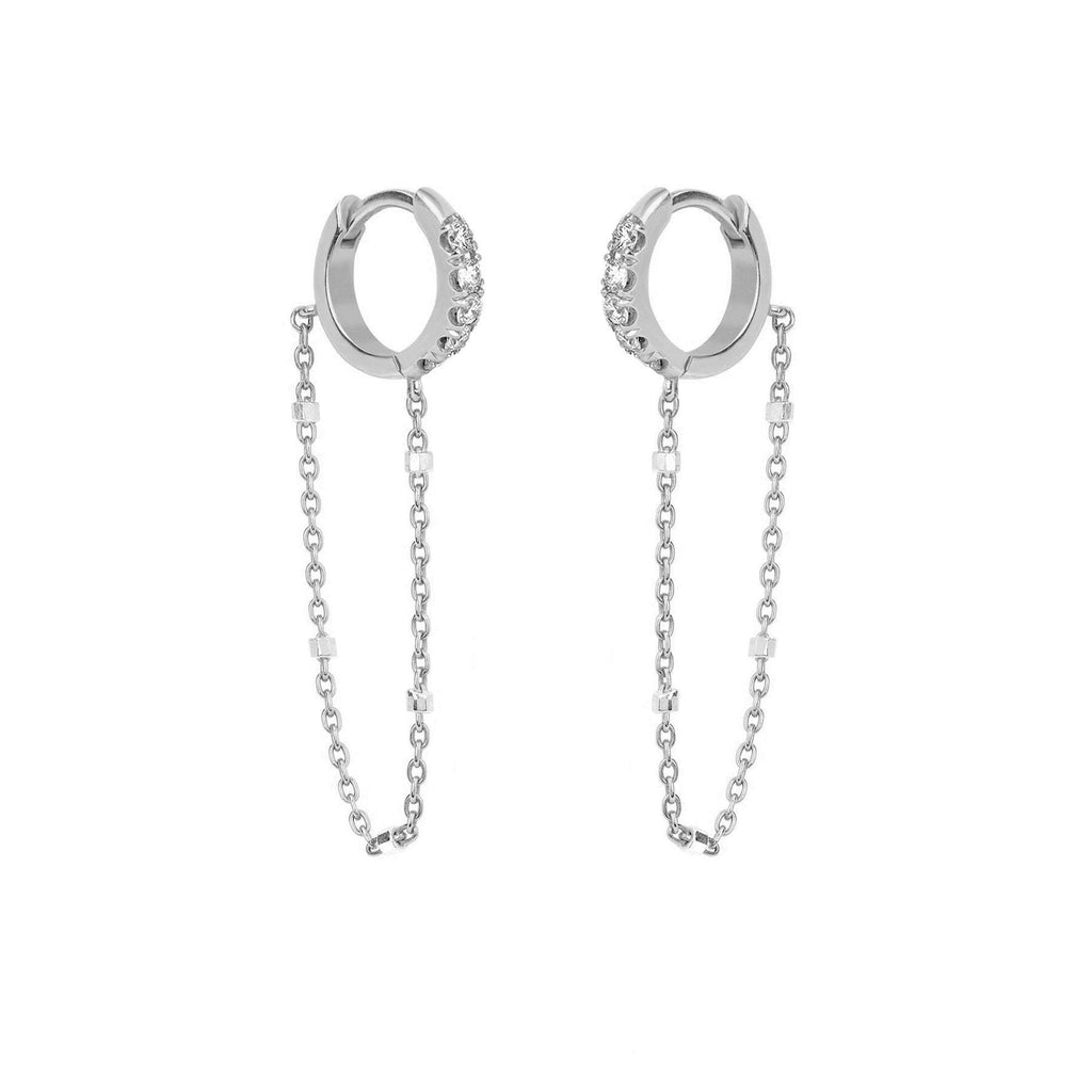 NEW! Diamond Mini Goddess Chain Earrings NEW! Diamond Mini Goddess Chain Earrings