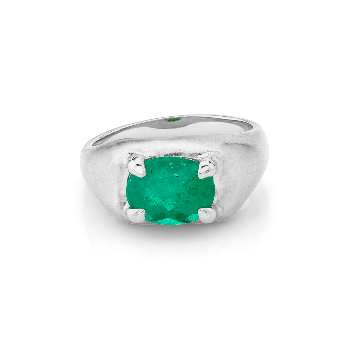 NEW! Oracle Ring with Oval Emerald Center