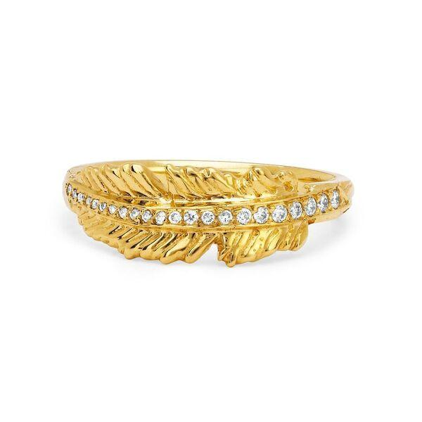 Angel Feather Ring Yellow Gold