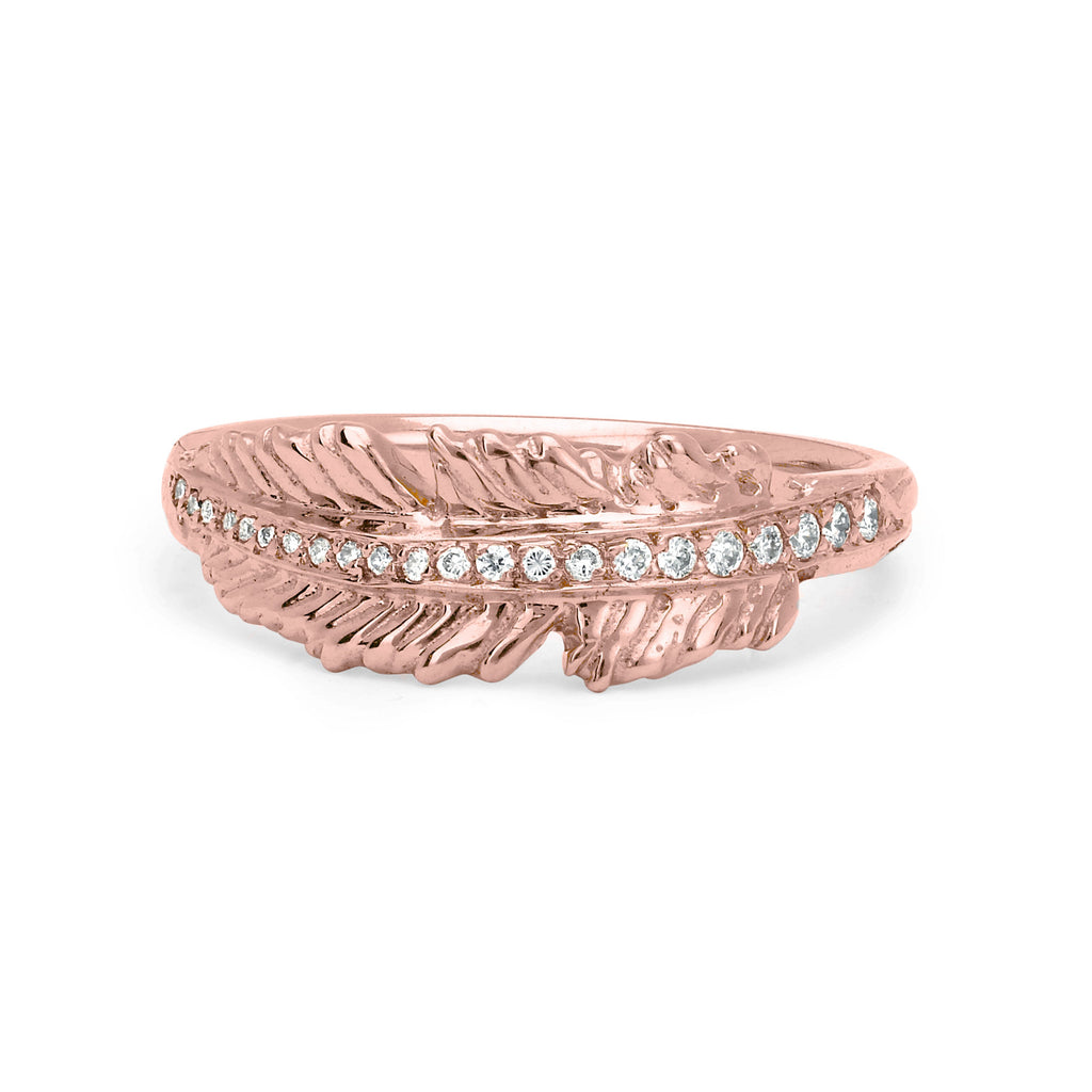 Angel Feather Ring Rose Gold