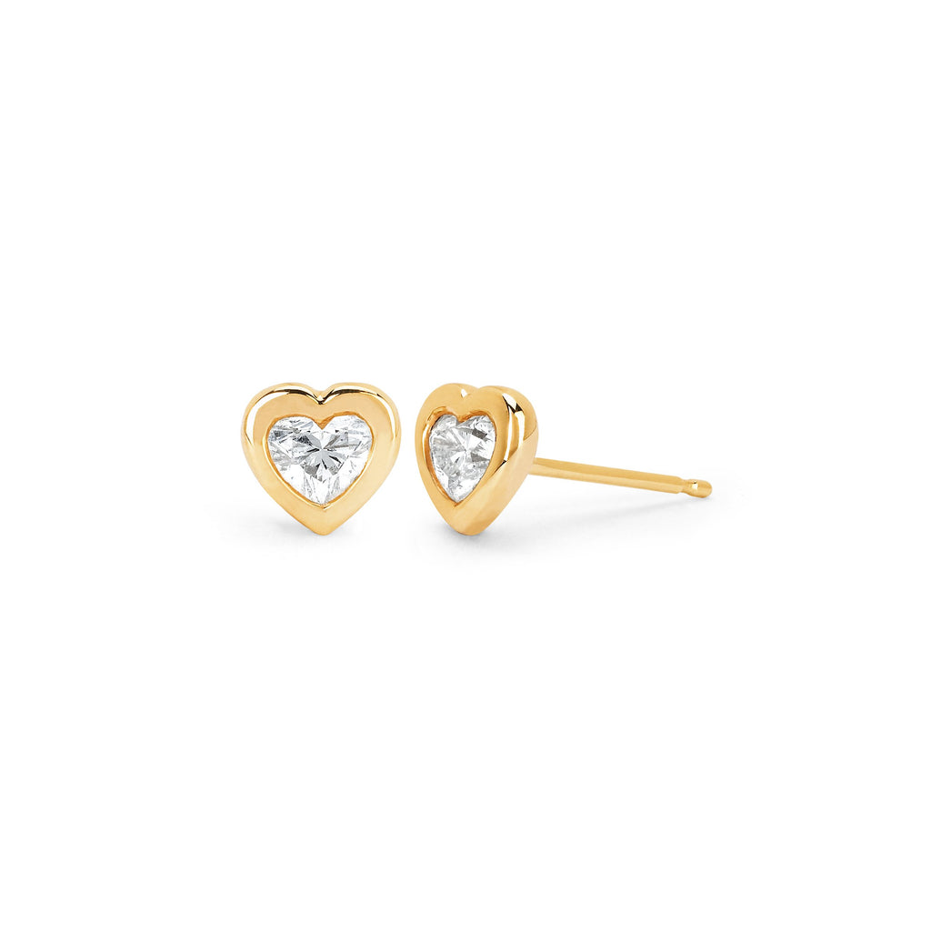 Heart of Light Studs Yellow Gold