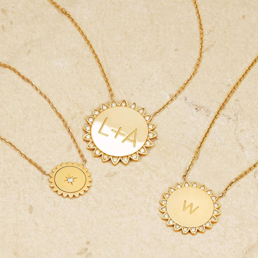 Trust the Universe Medium Sunshine Necklace with Diamonds