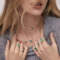 Floating Heart Shaped Emerald Necklace Floating Heart Shaped Emerald Necklace
