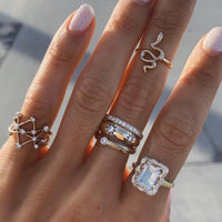 Kundalini Baby Snake Ring with Star Set Diamonds Kundalini Baby Snake Ring with Star Set Diamonds