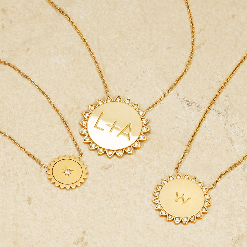 Mini Sunshine Necklace with Star Set Diamond Mini Sunshine Necklace with Star Set Diamond
