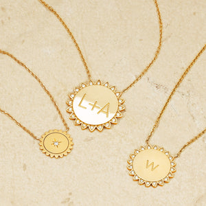 Mini Sunshine Necklace with Star Set Diamond