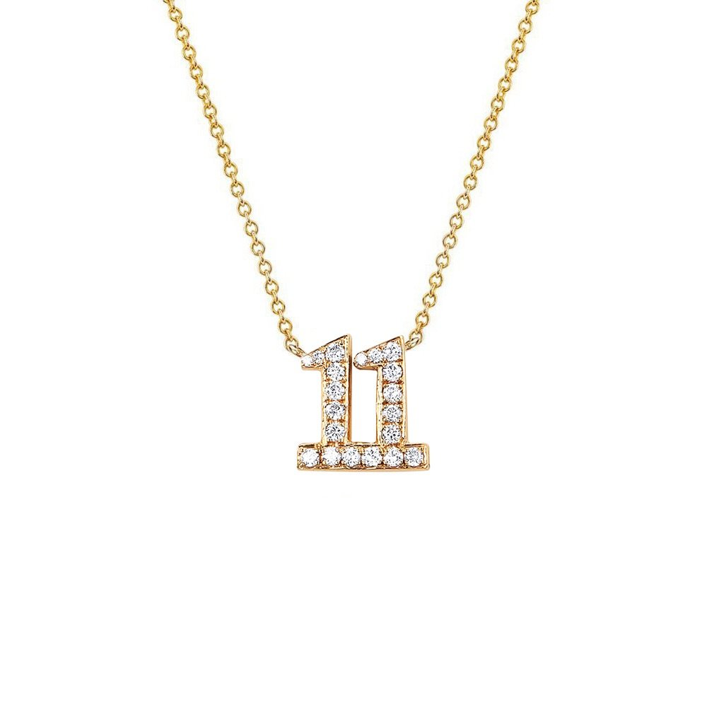 Pavé Diamond Numerology Necklace