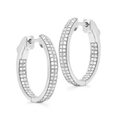 NEW! Micro Pavé Inside Out Hoops