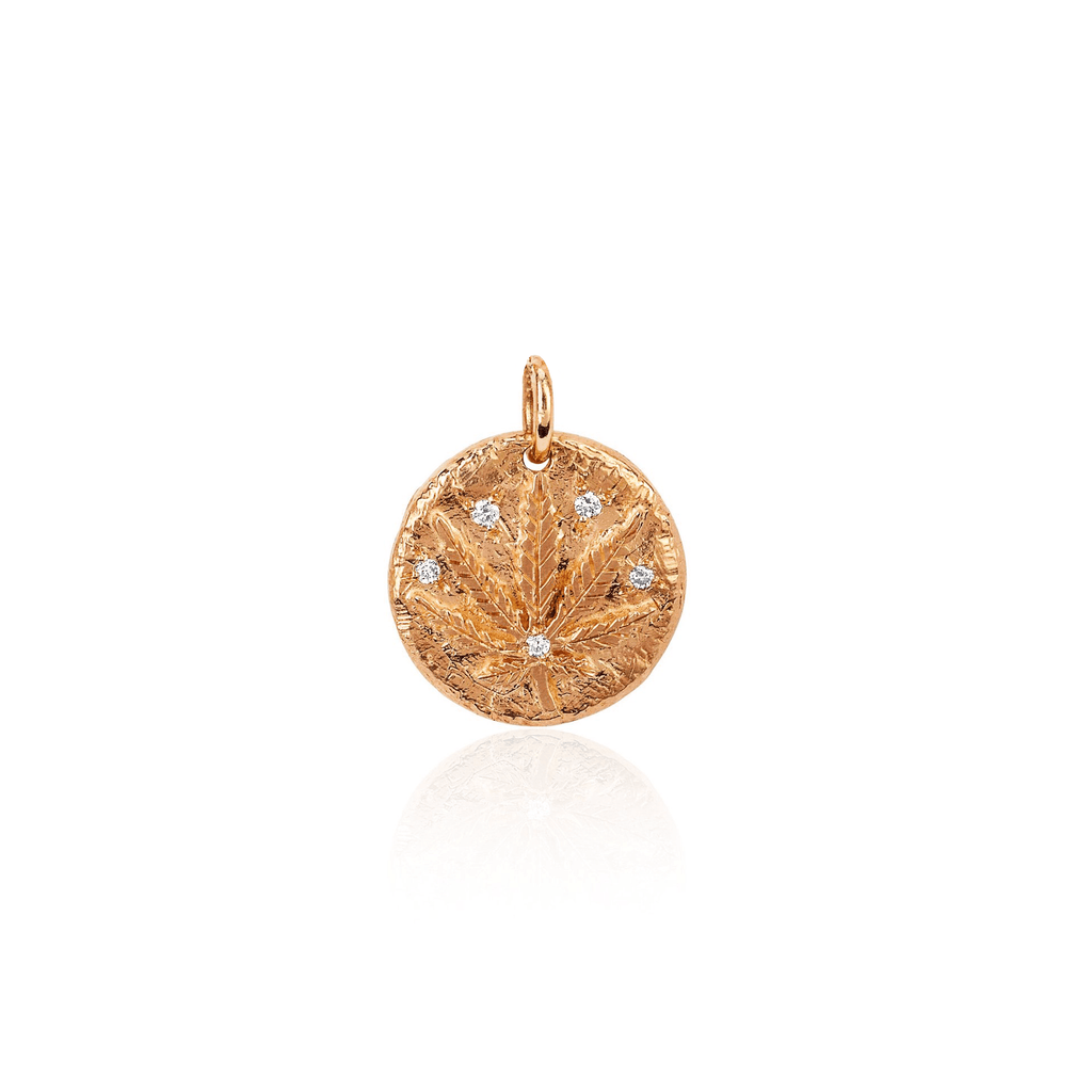 Baby Kaya Coin Charm Rose Gold