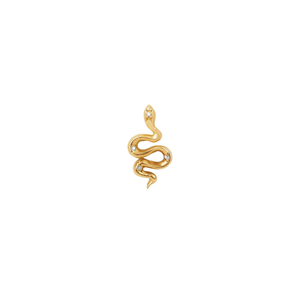 Kundalini Snake Studs with Star Set Diamonds Kundalini Snake Studs with Star Set Diamonds