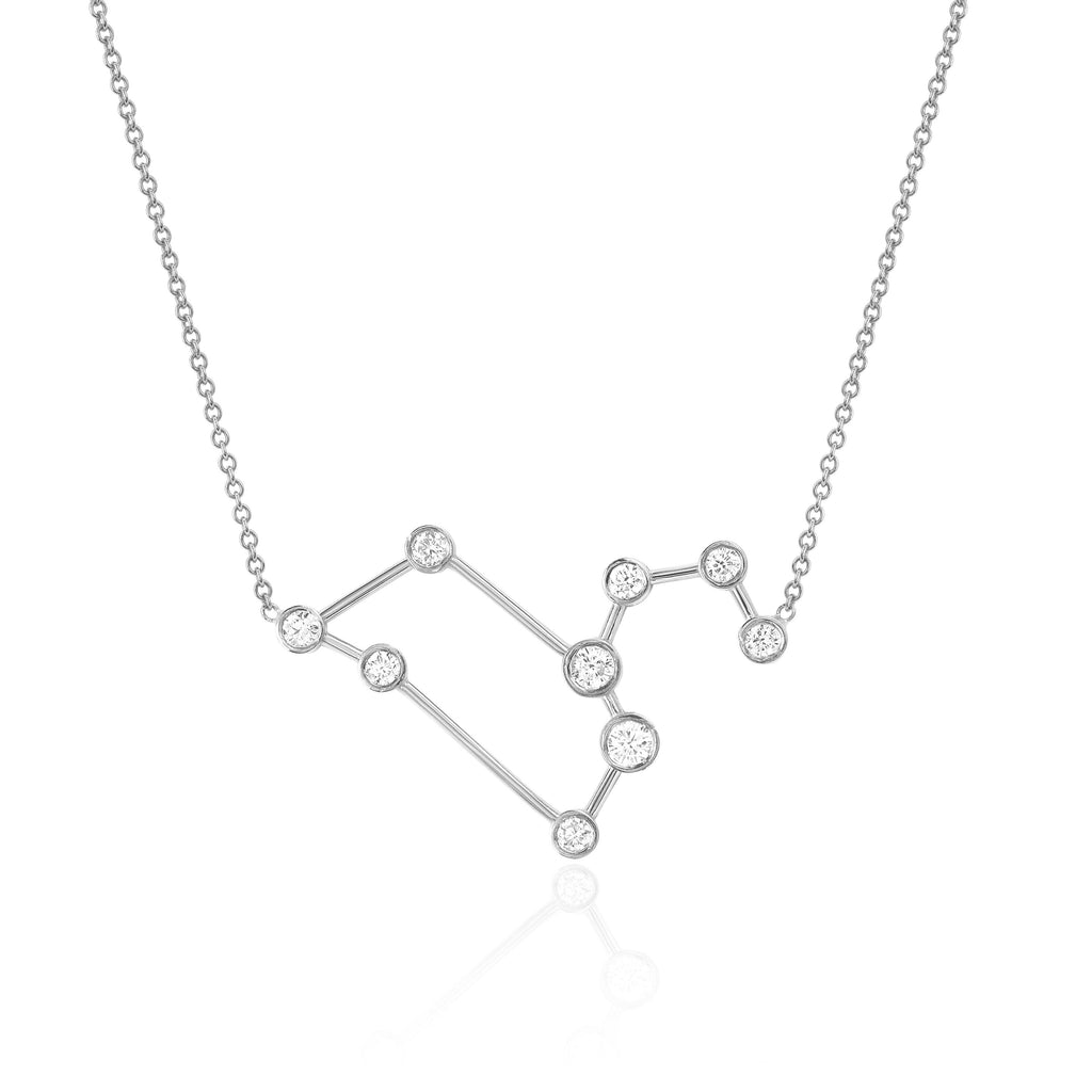 Leo Constellation Necklace White Gold