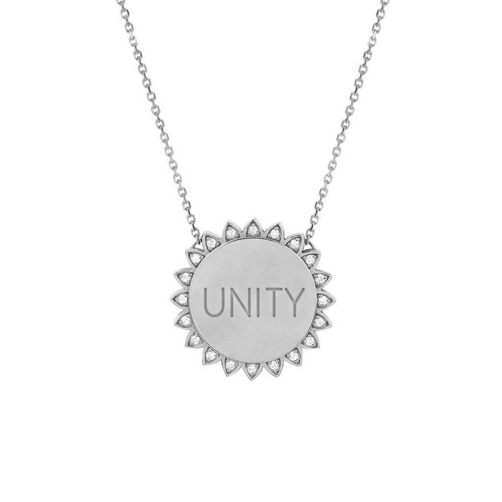 Medium Unity Sunshine Necklace with Diamonds Medium Unity Sunshine Necklace with Diamonds