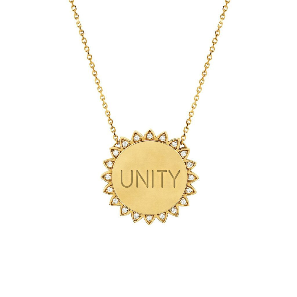 Medium Unity Sunshine Necklace with Diamonds