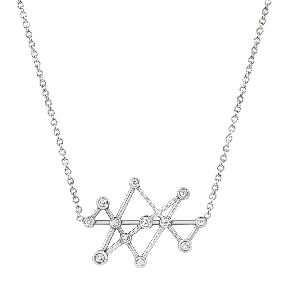 Midas Star Diamond Necklace White Gold