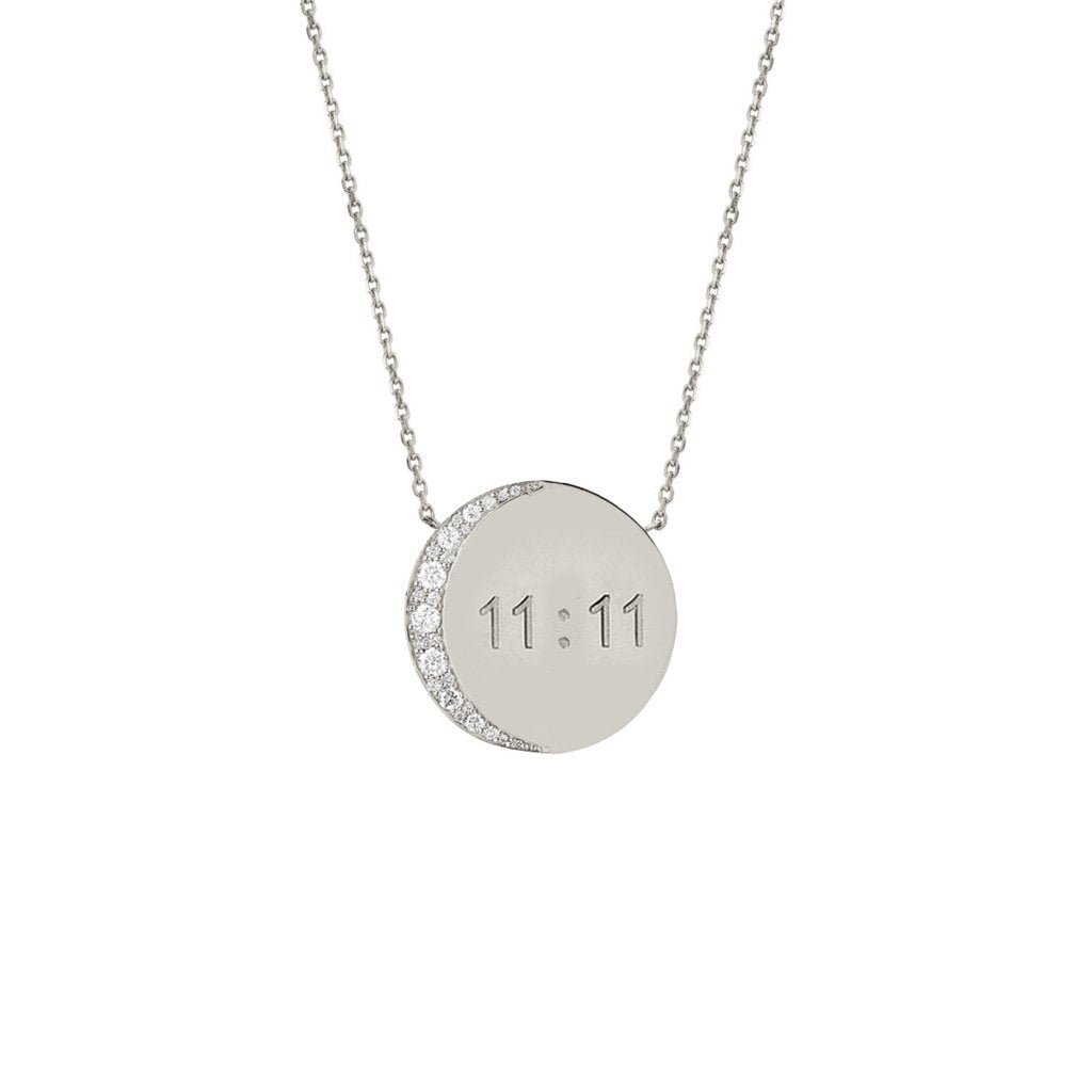 Mini 11:11 Moon Necklace