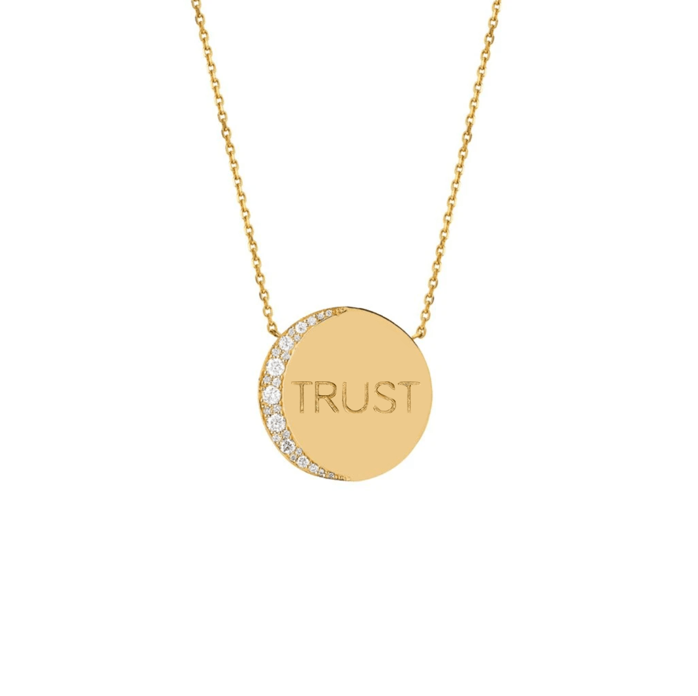 Mini Trust The Universe Moon Necklace