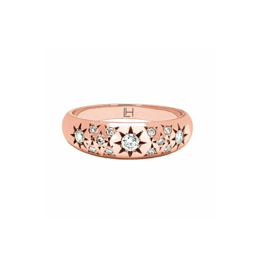 Pavé Star Set Rounded Ring Pavé Star Set Rounded Ring