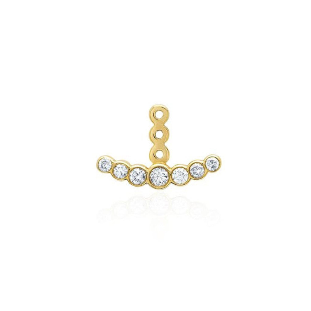 Orbit Seven Diamond Ear Jacket Yellow Gold