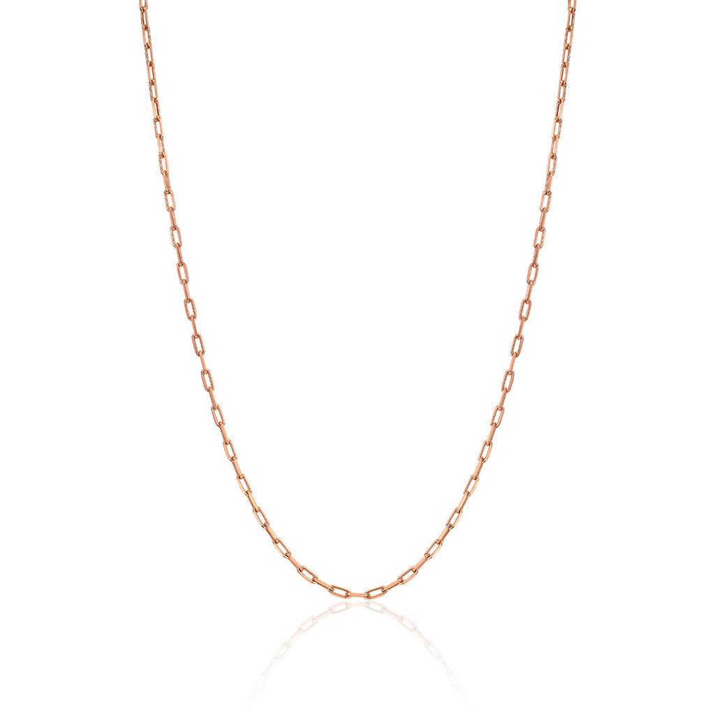 Baby Alchemy Link Necklace Rose Gold