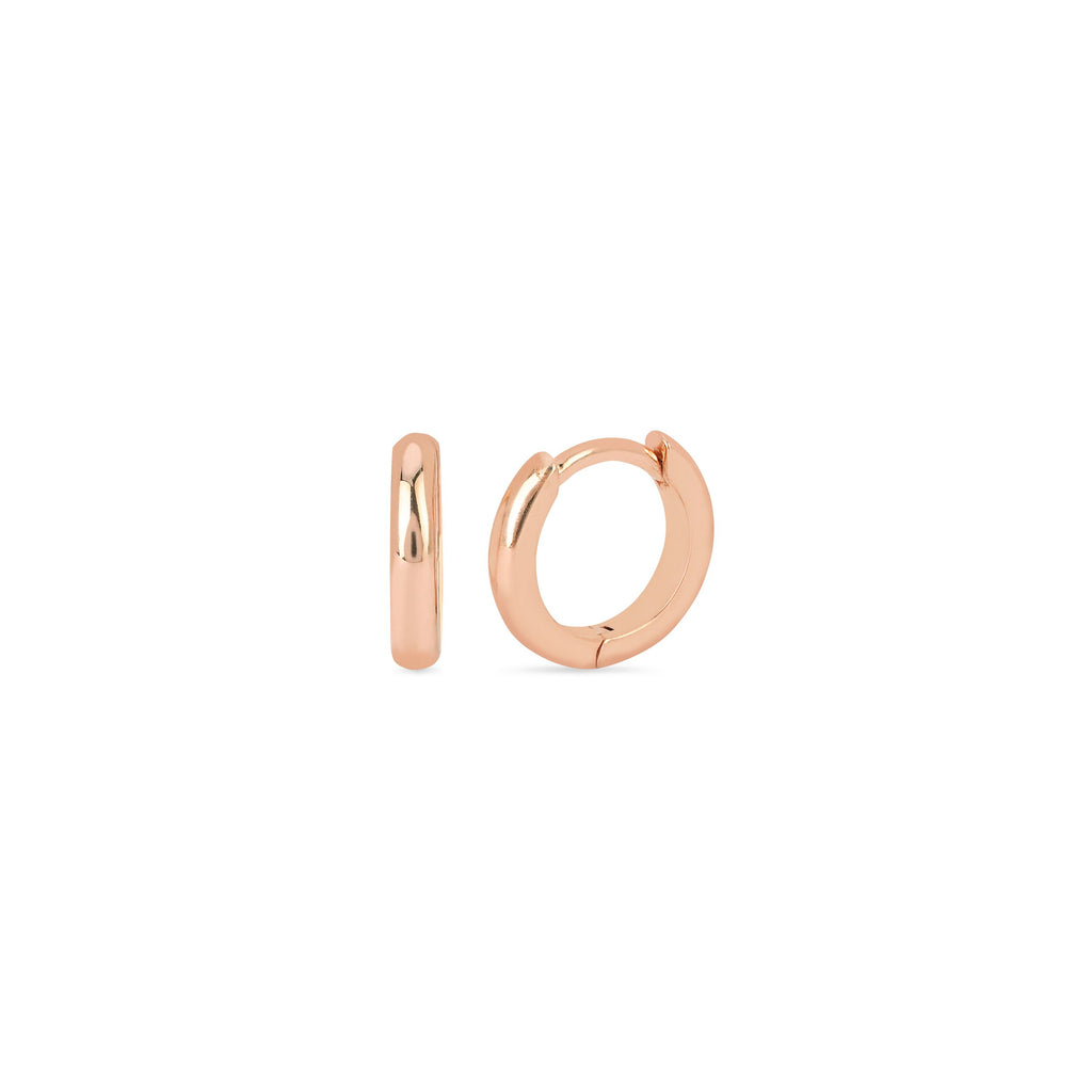 Solid Mini Goddess Hoops Rose Gold