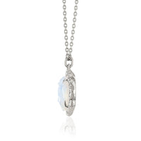 NEW! Queen Moonstone Buddha Pendant with Sprinkled Diamonds NEW! Queen Moonstone Buddha Pendant with Sprinkled Diamonds