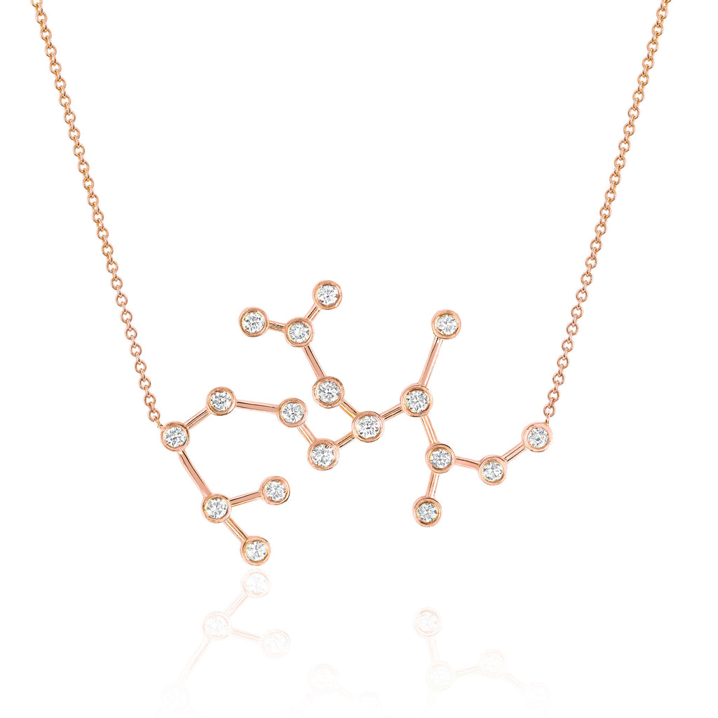Sagittarius Constellation Necklace Rose Gold