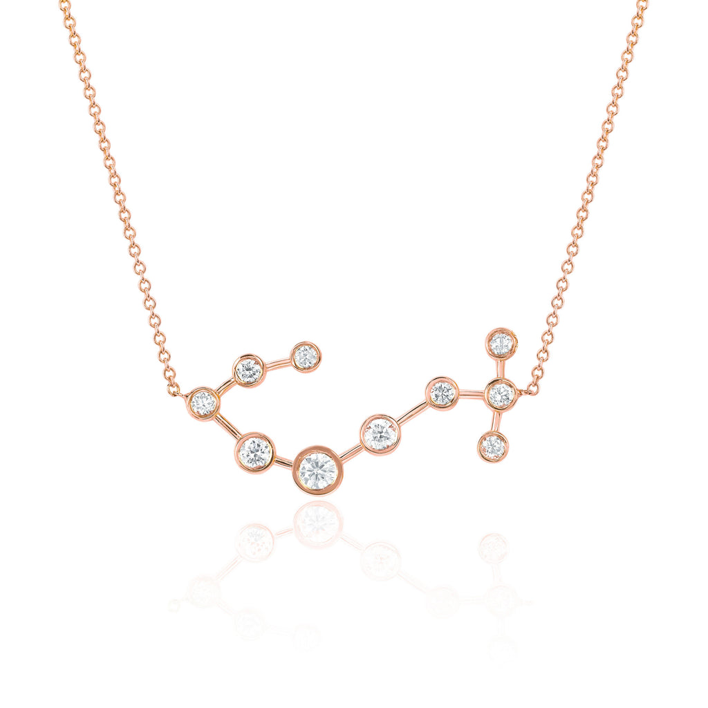 Scorpio Constellation Necklace Rose Gold