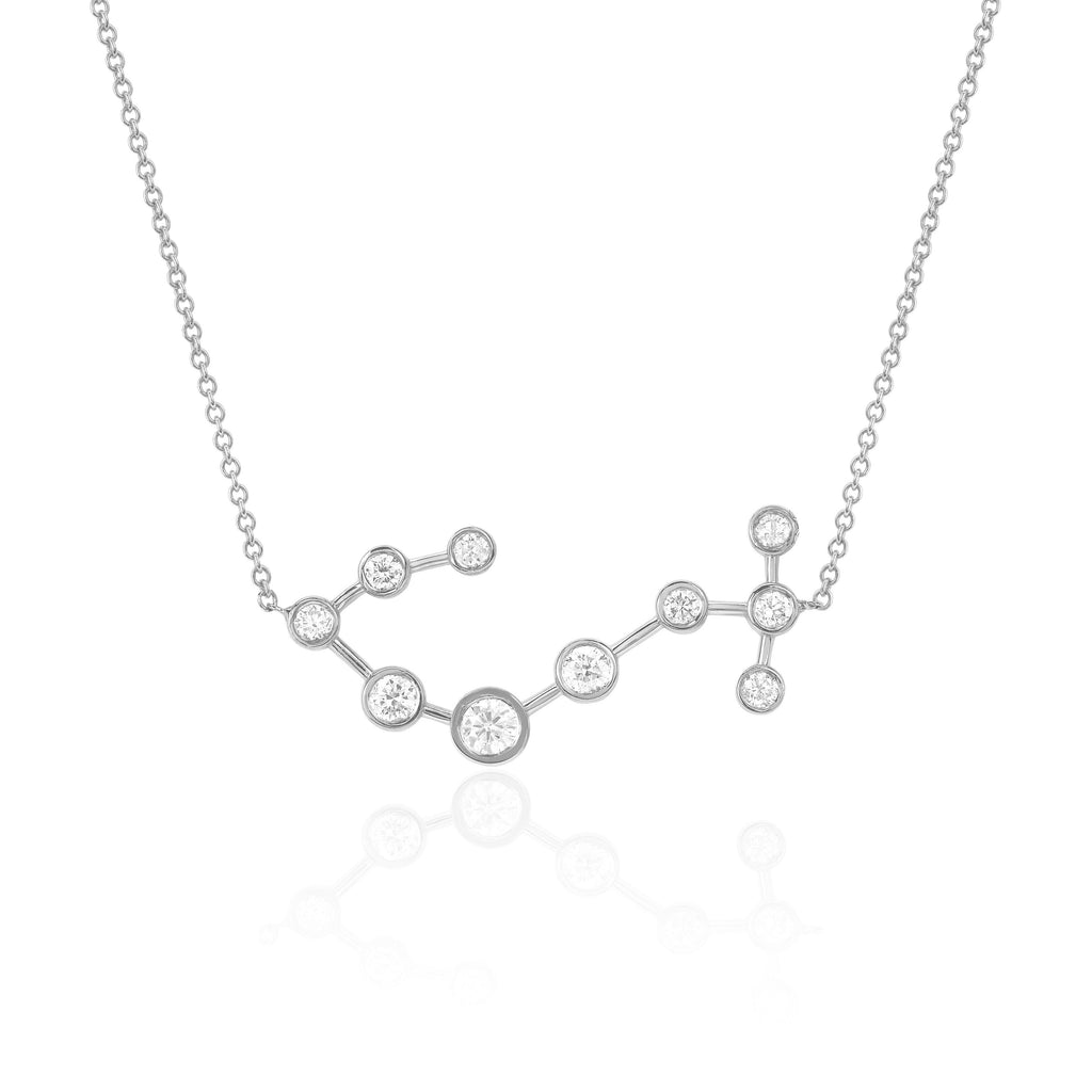 Scorpio Constellation Necklace White Gold