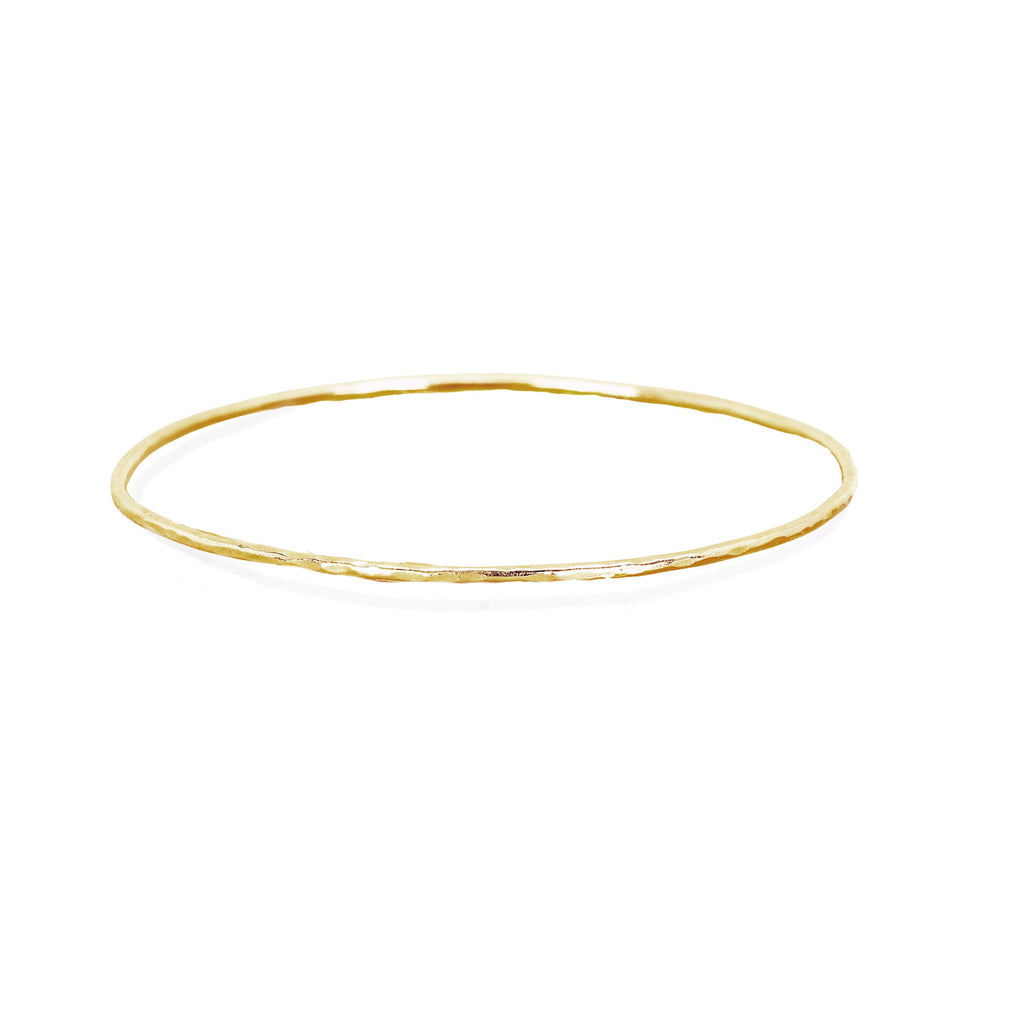 Wilderness Hammered Gold Bangle Set Yellow Gold