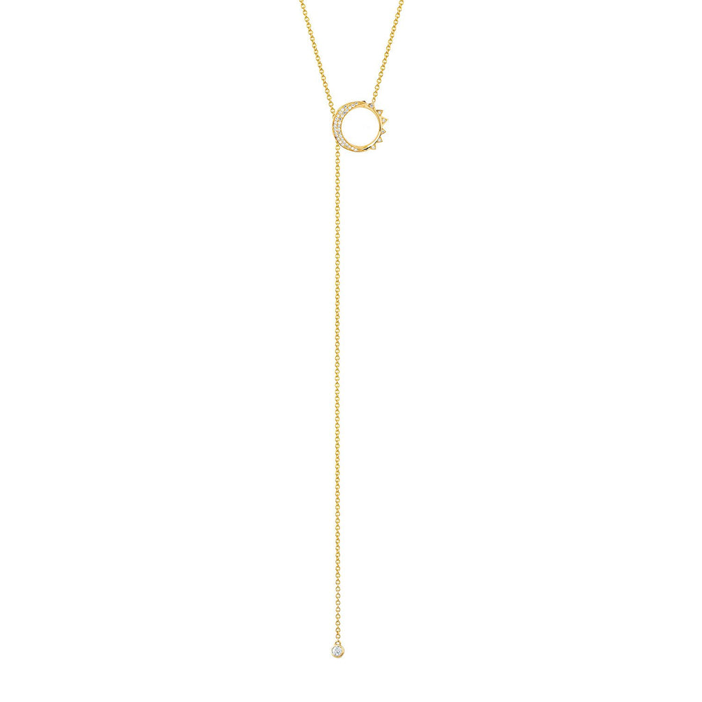Small Unity Lariat Yellow Gold