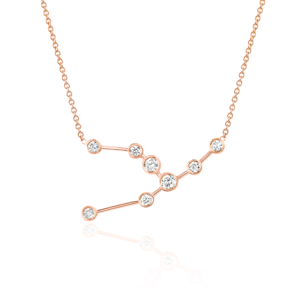 Taurus Constellation Necklace Rose Gold