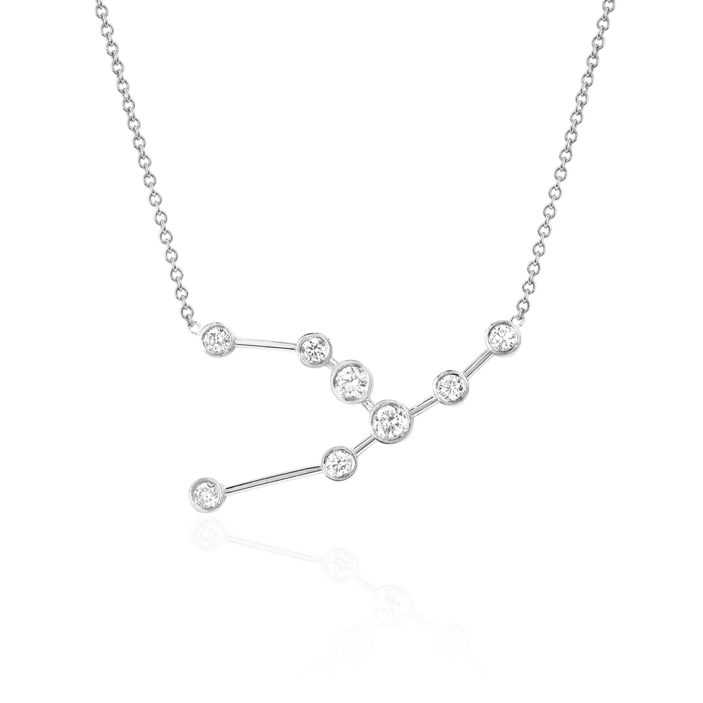 Taurus Constellation Necklace White Gold