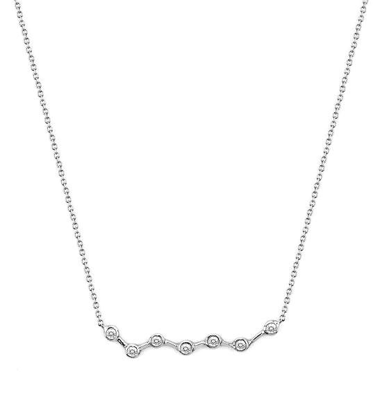 Ursa Major Diamond Constellation Necklace White Gold