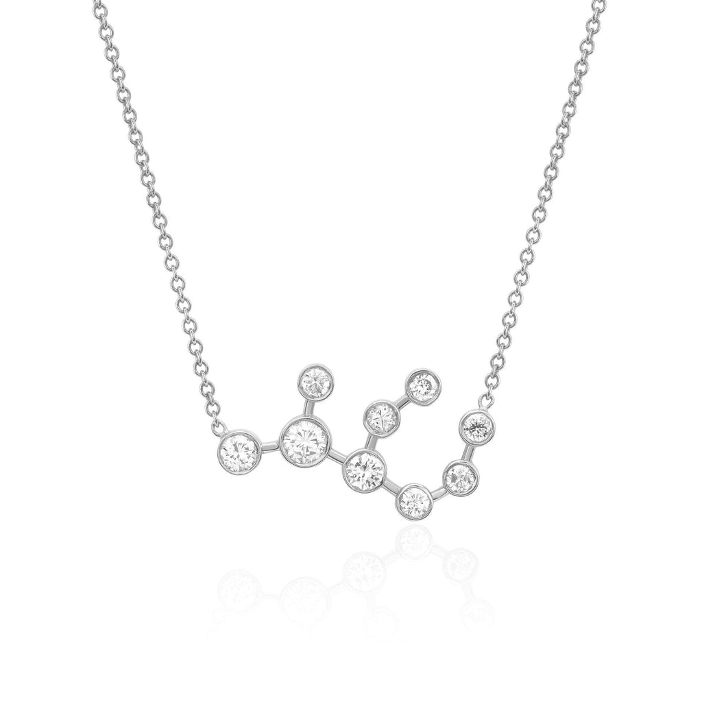 Virgo Constellation Necklace White Gold