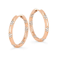 Wilderness Sevenfold Diamond Hoops Large Wilderness Sevenfold Diamond Hoops Large