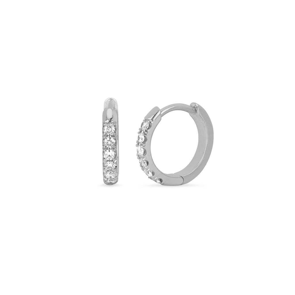 Diamond Goddess Hoops White Gold
