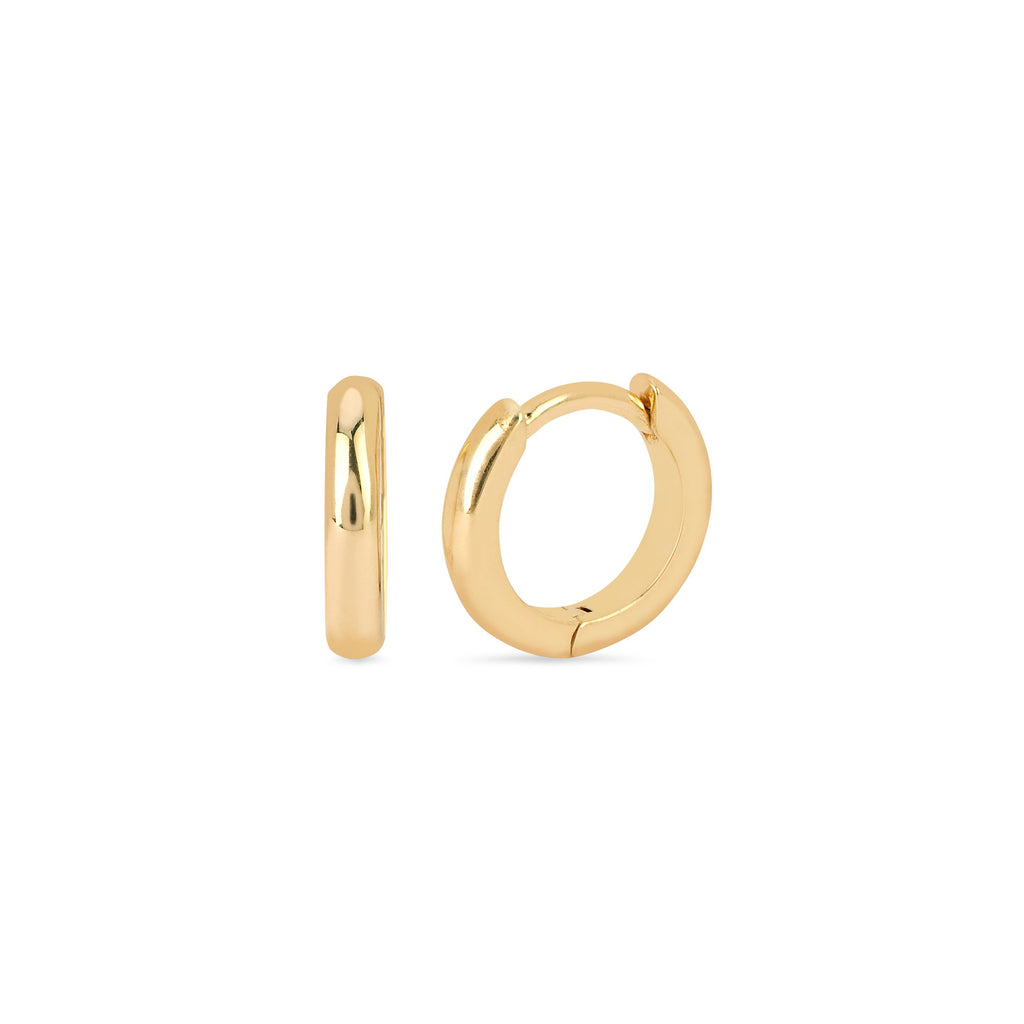 Solid Goddess Hoops Yellow Gold