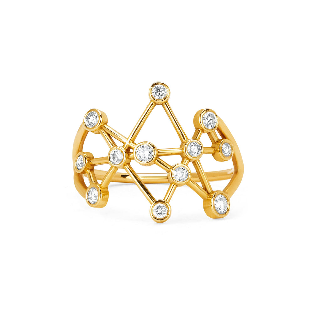 Midas Star Ring Yellow Gold