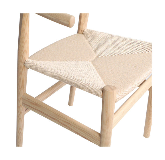 (PRE-ORDER) Hiro Dining Chair, White Ash/Natural Papercord Seat - Image 7