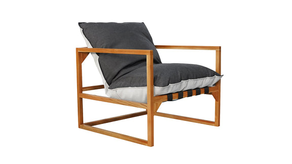 (PRE-ORDER) Afternoon Sun Lounge Chair, Teak Nightfall - Image 2