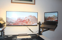 Load image into Gallery viewer, Monitor and Laptop Desk Mount