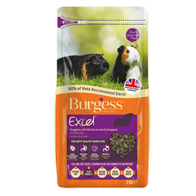 Burgess Excel Guinea Pig Pellets with Blackcurrant and Oregano 2kg