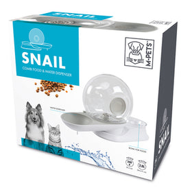 M-Pets Snail Combi Food And Water Dispenser