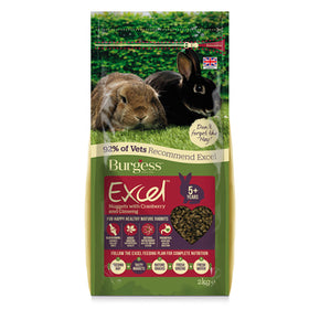 Burgess Excel Mature Rabbit Nuggets with Cranberry 2kg